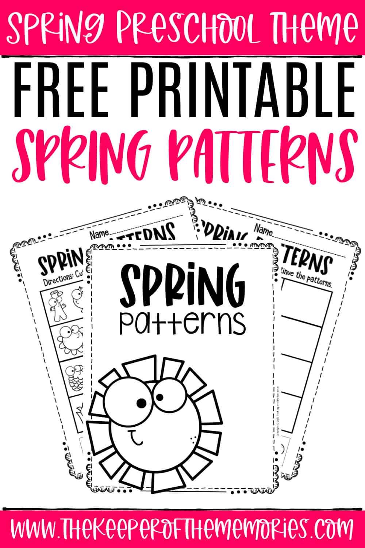 Free Printable Patterns Spring Preschool Worksheets