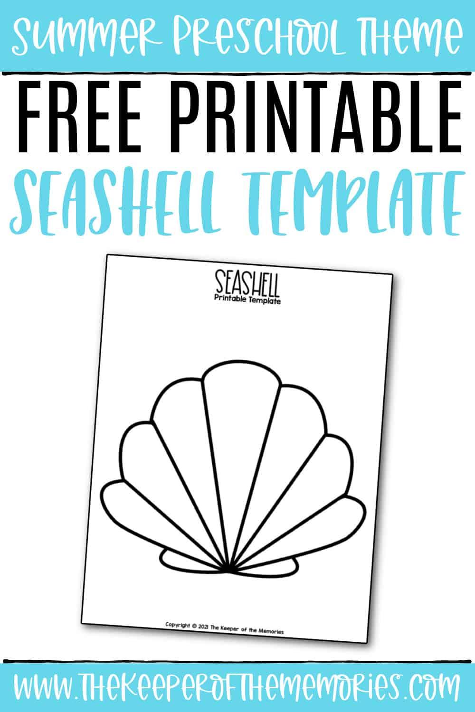 Free Printable Seashell Template
