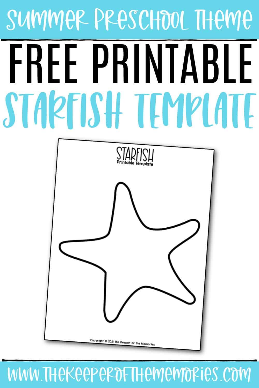 Free Printable Starfish Template