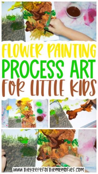 Flower Symmetry Painting for Kids