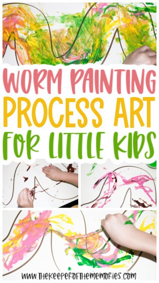 Worm Painting for Kids