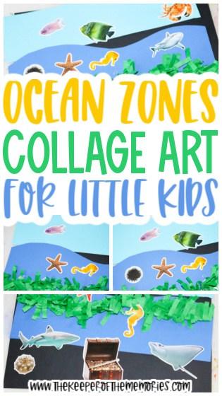Ocean Zones Collage for Kids