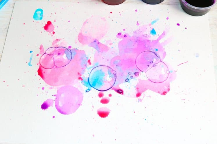 child's bubble painting for kids