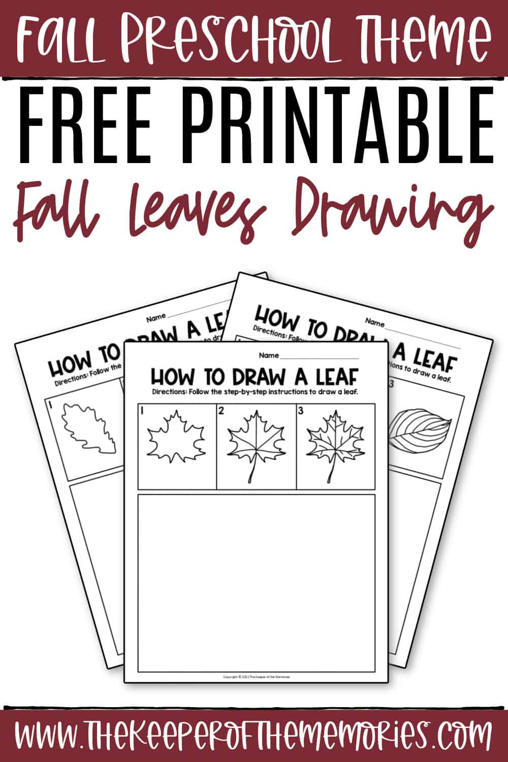 Fall Leaves Drawing for Kids