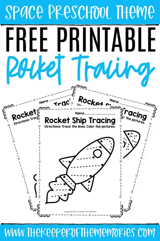 Free Printable Rocket Tracing Preschool Worksheets