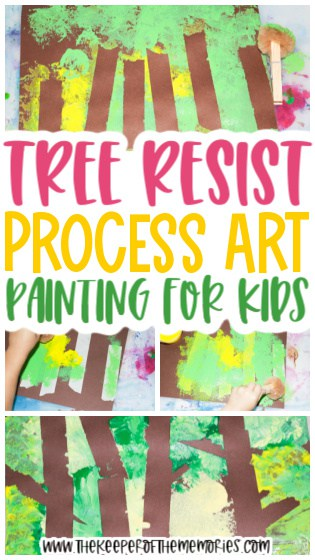 Tree Resist Painting for Kids