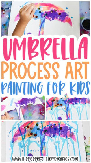 Umbrella Painting for Kids