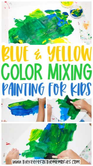 Blue & Yellow Painting for Kids