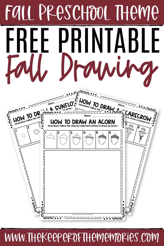 Free Printable Fall Drawing Worksheets
