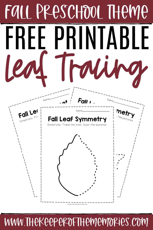 Free Printable Fall Tracing Worksheets
