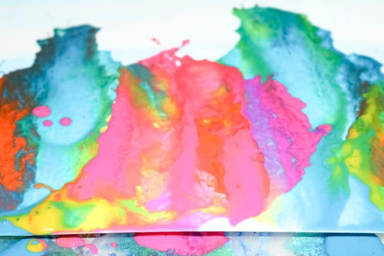child's blow art painting